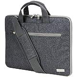 TECHGEAR Tasche für 14-14,6 Laptops - Tragbare Multifunktions Laptop hülle mit verstellbarem Schultergurt, Gepäckriemen und unterdrückbaren Griffen, Tragbarer Organizer Case mit Taschen - Grau
