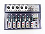 Weymic Professional Mixer | 7-Channel 2-Bus Mixer with USB disk Input 48V Phantom Power for Recording DJ Stage Karaoke Music Application