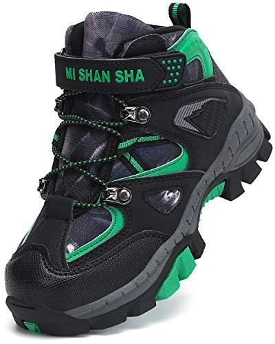 Mishansha Ragazzi Scarpe da Trekking Stivali da Escursionismo Bambini Boots Calore Foderato Stivali Invernali Verde Gr.26