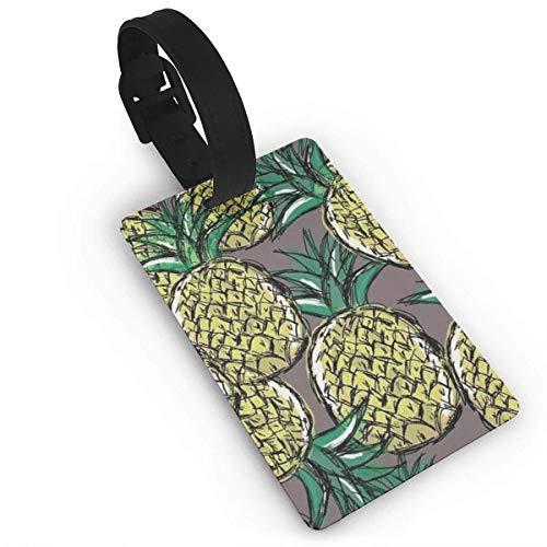 JKOVE Etiquetas Equipaje,Cool Pineapple Pattern-01.PNG identificador de Maletas de Etiqueta de Plano...