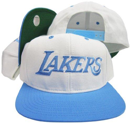 Los Angeles Lakers White/Baby Blue Adjustable Vintage Snapback Cap