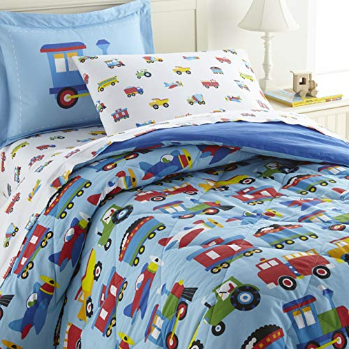 Wildkin Kids 100% Cotton Full Bedding Set for Boys and...