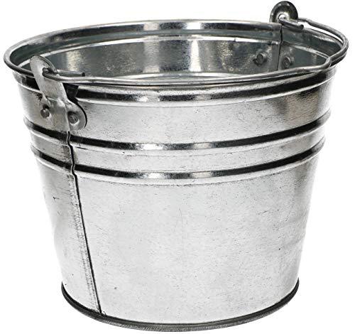 KOTARBAU® Robuster Zinkeimer verzinkt 5 L einfacher Griff Wassereimer für Garten Bauarbeiten Abfälle Küche Mörtel Werkzeug