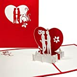 "Pop-Up Karte'Kissing Boys"" - 3D Klappkarte Gay Love - Schwule Liebe, Gay Valentine, Gay Greeting Card'Boys in Love', Valentinskarte 3D,..."