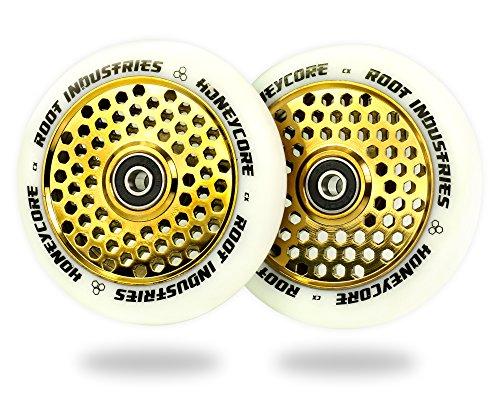 Root Industries 110 mm Honeycore Wheels, Ruote Bambino, Bianco/Oro, Taglia Unica