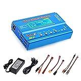 Haisito Cargador de Equilibrio de batería de 80W 6A Lipo Descargador...