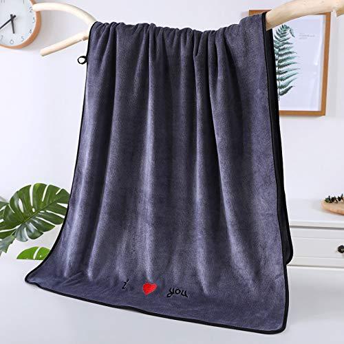Gxeb Microfibra Pareja Baño Toalla Suave Absorbente Familia Belleza Salón Unisexo Rectangular Baño Toalla Z/gray*2/70×140 cm