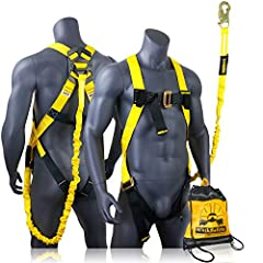 FULL ON FALL PROTECTION: You're ready to work hard up high right off the bat with KwikSafety's SCORPION Fall Protection System. The integrated single-leg lanyard and snap hook attached to the safety harness give you a complete safety package that's r...