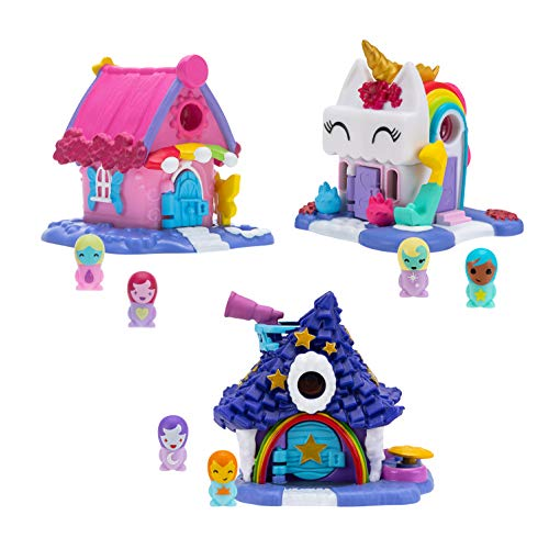 Nanables Small House Rainbow Way 3-Pack #1: Rainbow-tique, Twinkle Twinkle Inn, and Sparkle Day Spa