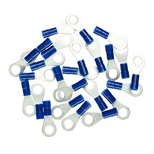 Haupa BLV260274 Ringkabelschuh isoliert 1,5-2,5mm² M6 blau 25 Stück, rot, 5-2,5 mm²