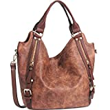 JOYSON Women Handbags Hobo Shoulder Bags Tote PU Leather Handbags Fashion Large Capacity Bags Coffee