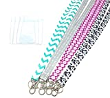 ECOHIP 4-Pack Lanyards for Women, Cute Lanyard with ID Holder,...