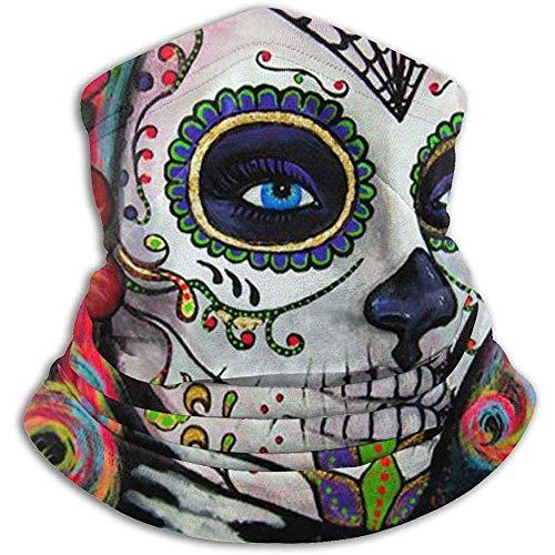 Olive Helin(a) Sugar Skull Candy UV Sun Protection Gaiter Sun Mask para Hombres y Mujeres, Careta para Pesca, Senderismo, Kayak,
