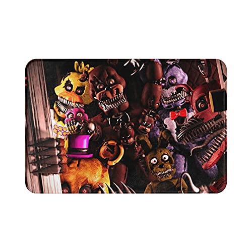 Game Five Nights at Freddy's Alfombra suave y cómoda para salón y dormitorio, hecha de tela de franela de alta calidad, 39,9 x 59,7 cm