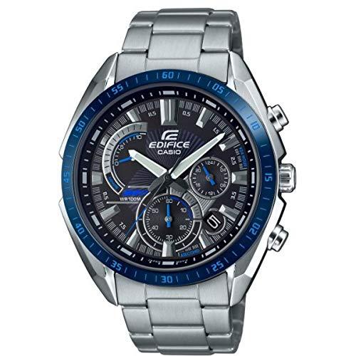 CASIO Herren Analog Quarz Uhr mit Edelstahl Armband EFR-570DB-1BVUEF