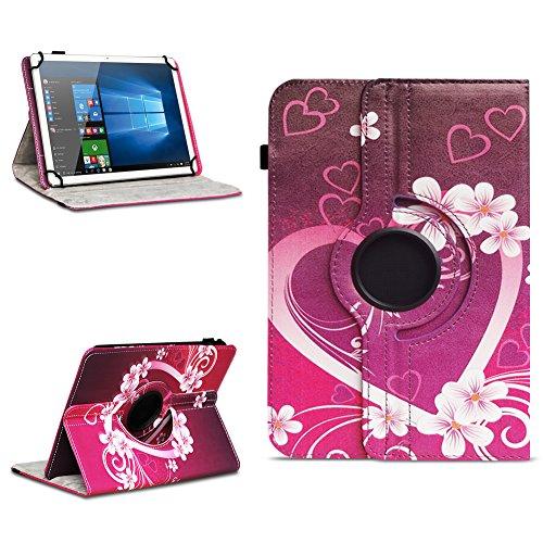 na-commerce Robuste Universal 10-10.1 Zoll Tablet Schutzhülle aus hochwertigem Kunstleder Hülle Tasche Standfunktion 360° Drehbar Cover Hülle Schutzhülle, Farben:Motiv 2