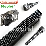 Fevas Noulei 1.25 Mod CNC 1400mm 670mm Helical Gear Rack and 1.25MOD Metal Steel Pinion Gear Set for CNC Machine - (Brand: New, Number of Teeth: J-670-124x1)