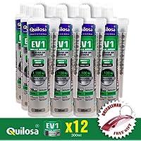 Anclaje Taco Químico Quilosa EV1 Poliéster Sin Estireno (Caja Edición Bricolemar 12x300ml + Llavero Rojo de Regalo!)