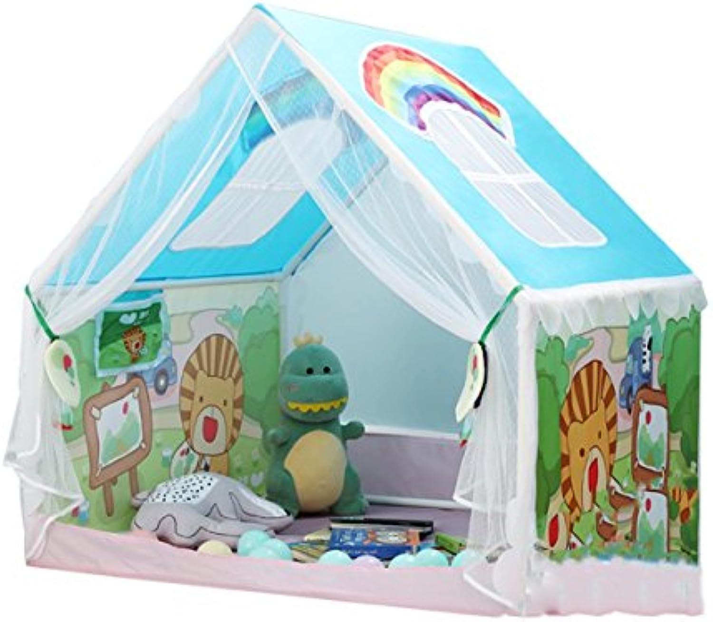 HQQ Kinder Spielen Zelt Spiel Haus Indoor Marine Ball Falten Puppenhaus Puzzle (Blau 40,9  39,4  39,4 Zoll verpackung von 1)