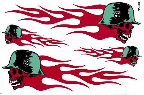 Bienpatch Death Biker Aufkleber/Sticker/Aufkleberbogen 4-teilig