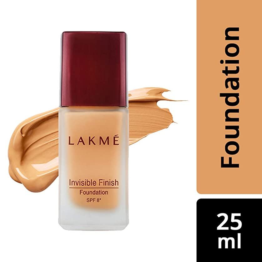 リスト統治可能傑出したLakme Invisible Finish SPF 8 Foundation, Shade 01, 25 ml