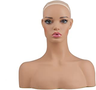 L7 Mannequin Life Size Plastic Mannequin Manikin Head Realistic Wig Head Display for Wigs Sunglasses Necklace Earrings