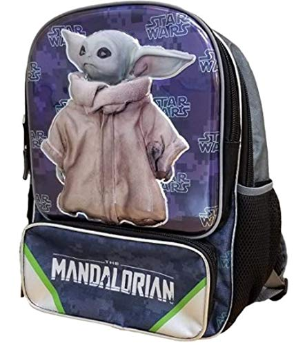 Baby Yoda The Child Backpack Adjustable Straps 3 Compartments Padded Backing Great Gift for School and Every Day Use