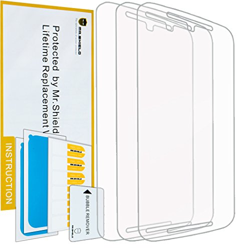 Mr.Shield for Motorola Moto G2/Moto G (2nd Generation) Premium Clear Screen Protector [3-Pack] with Lifetime Replacement