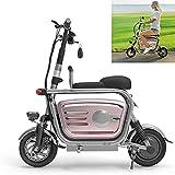 Xiaokang 400W 35km 48V Potente Bicicleta eléctrica eléctrica Bicicleta eléctrica Coche para Padres Adultos/niñas Mini Scooter eléctrico Plegable Negro/Rosa,B