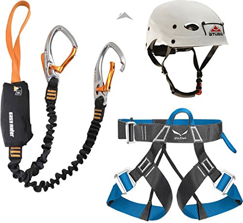 Klettersteigset Black Diamond Easy Rider + Gurt Salewa Via Ferrata Evo + Helm Stubai Fuse Light