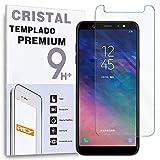 REY Protector de Pantalla para Samsung Galaxy A6 Plus 2018 - Galaxy A9 Star Lite - Galaxy J8 2018, Cristal Vidrio Templado Premium