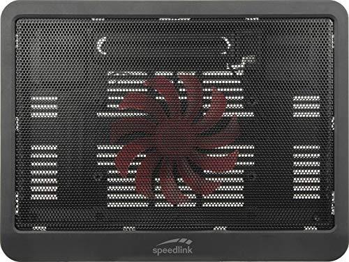 Speedlink AIRDRAFTER Notebook Cooler - schützt den Laptop vor Überhitzen - für Laptops bis 15.6 Zoll - Höhenverstellbar - inkl. LED Beleuchtung, schwarz