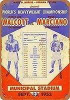 2個 20*30CMメタルサイン-1952Walcott vs.Marciano