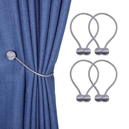 GHJK Magnetische Vorhang Raffhalter Vorhang Holdbacks (4 Stück) Elegante Perlenperle Gardinenklammern mit Starken Magnet für Heimtextilien