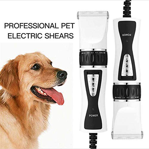 MLyzhe Scheermachine voor honden professionele hondenschaarmachine, langharig verzorgingsclippers, kattenhaartrimmer, tondeuse voor katten, stille elektrische tondeuse