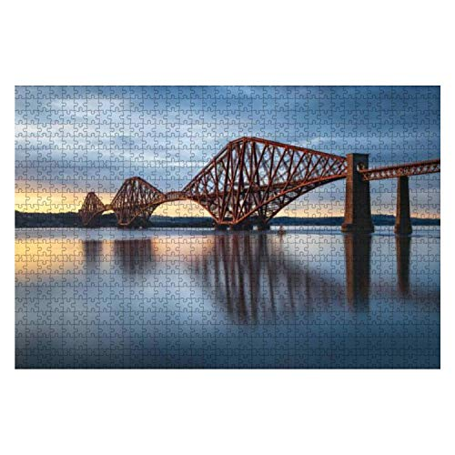1000 Piece View of Forth Rail Bridge at Sunset Railway Bridge Over Firth of Forth Large Piece Jigsaw Puzzles for Adults Educational Toy for Kids Creative Games Entertainment Wooden Puzzles Home Decor