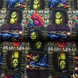 Stenzo Jersey Stoffe Panic Time Monster Drachen 0,50m x VB