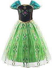 アナと雪の女王 エルサ 風 プリンセス 子供用 ドレス コスチューム 仮装 衣装 女児用 プレゼント