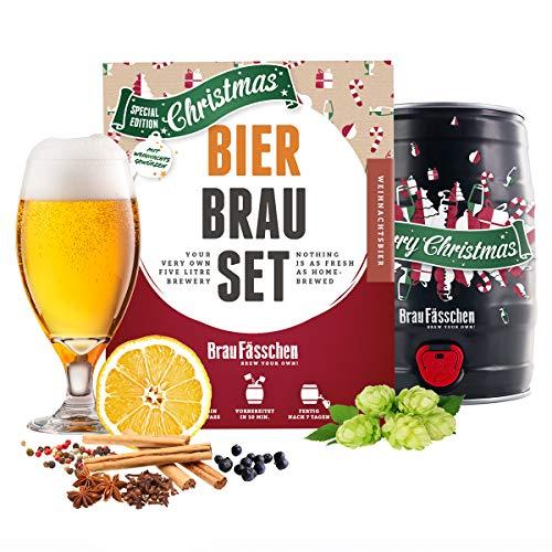 Weihnachtsbier Braufässchen Bierbrauset   in nur 7 Tagen Bier brauen   Weihnachten genießen