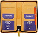 Pareek 4#Passport Holder, Mini Cards Holder and Currency Wallet (All in One)