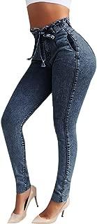 Signore WOMANS Skinny MATITA slim nero jeans 6 8 10 12 14 16 18 20 lungo 32 Gamba