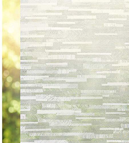 Rabbitgoo窓用ガラスめかくしシート曇りガラスフィルムすりガラス目隠しシートマドピタ飾りシート不透明目隠し水で貼ってはがせるUVカット紫外線対策飛散防止防犯防災日よけ遮光断熱結露防止浴室お風呂食器棚おしゃれ水で貼れるまど小窓の硝子サッシシール磨りガラスふぃるむ網入りガラス適用(艶消し44.5x200cm)