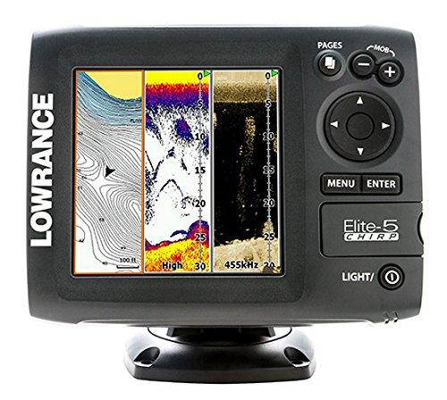 000-11652-001 Lowrance Elite-5 CHIRRIDO Fishfinder-plotter Oro Combo - 83-200 455-800 m-s travesa-o Monte: Amazon.es: Deportes y aire libre