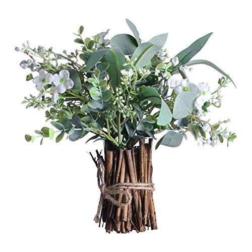 EFINNY Eucalyptus deja Artificial Spray Eucaliptus ramas plantas, tallos de vegetación artificial para verde,disposición de la fiesta de