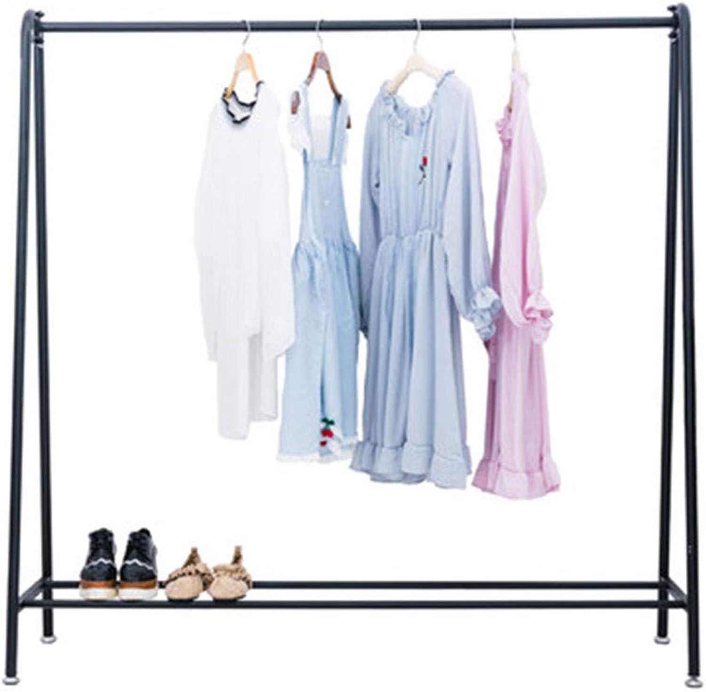 Qing MEI Indoor Creative Coat Rack Floor Bedroom Simple Hanger Floor Rack Simple Modern Clothes Rack A++ (Size   100CM)