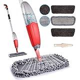 Microfibre Spray Floor Mop - HOMTOYOU Dry and Wet Hardwood Floor Cleaning Mop