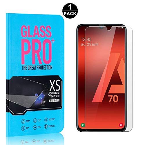 Bear Village® Displayschutzfolie für Galaxy A70, 9H Härtegrad Displayschutz, 99% Transparente, 3D Touch Schutzfilm aus Gehärtetem Glas für Samsung Galaxy A70, 1 Stück