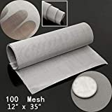 ELECTROPRIME New Cloth Screen Filter 100 Mesh 90 * 30cm Durable 12'' x 35' Woven Wire Sheet