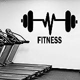 Fitness Gym Wandaufkleber Dekoration Fitness Sport Wandaufkleber Fitness Gewichtheben Langhantel...