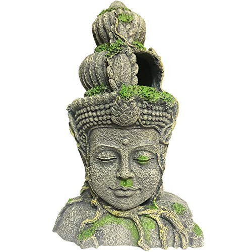 SLOCME Aquarium Large Buddha Statue Decorations - Aquarium Buddha Decor Fish Tank Large Buddha Statue Decoration